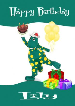 Personalised Dorothy the Dinosaur Birthday Card Design 1